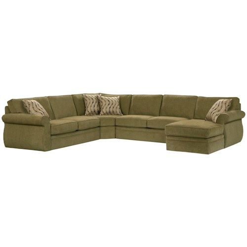 Broyhill furniture veronica right arm facing customizable for Broyhill chaise lounge
