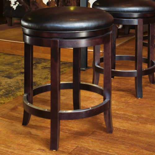 Canadel Bar Stools Customizable 24 Upholstered Swivel Stool Jordan 39 S Home Furnishings Bar
