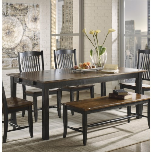 Canadel champlain custom dining customizable rectangular for John v schultz dining room table