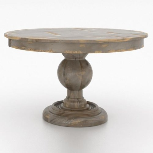 Canadel Champlain Custom Dining 48 Round Wood Solid Top