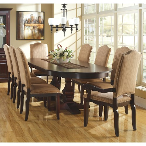 Canadel Custom Dining Customizable Oval Table Set W