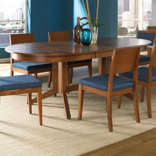 Canadel custom dining customizable oval table broyhill for Custom dining room tables