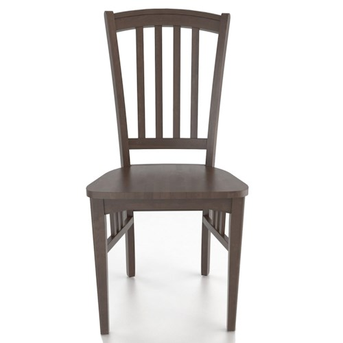 canadel custom dining customizable slat back side chair
