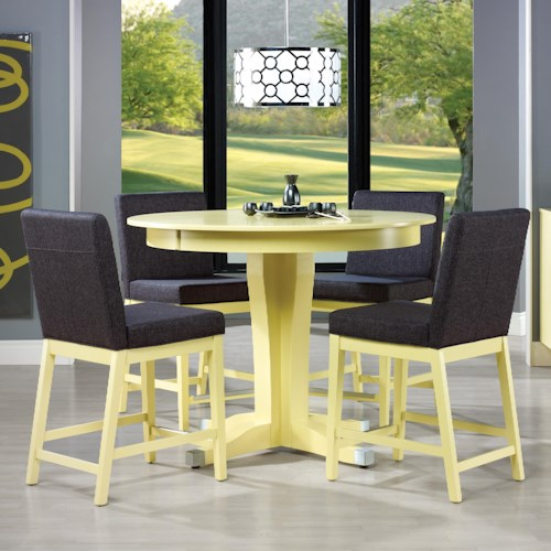 set canadel custom dining high dining customizable counter table set