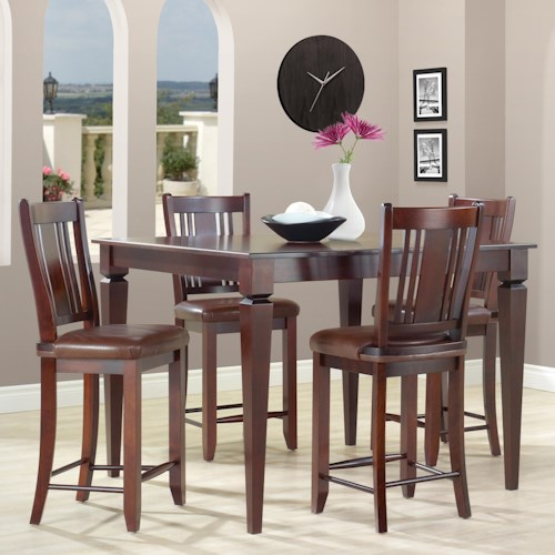 canadel custom dining high dining customizable square counter height table set colder 39 s. Black Bedroom Furniture Sets. Home Design Ideas
