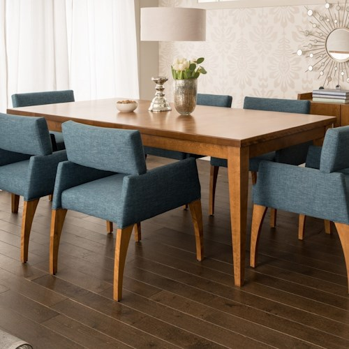 Canadel custom dining customizable contemporary for Custom dining room tables