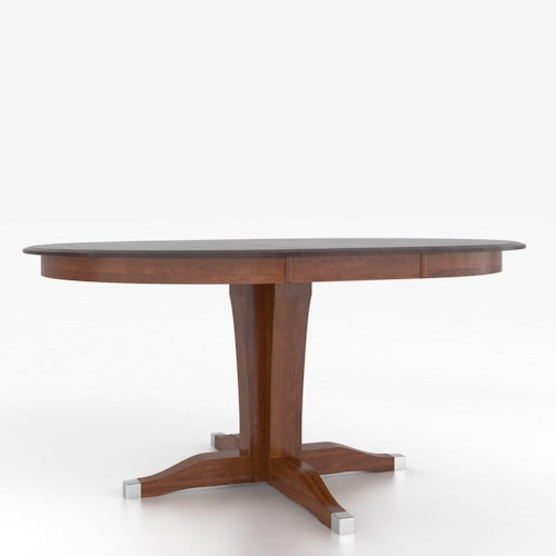 Height Tables Customizable Round Counter Height Table with Pedestal ...