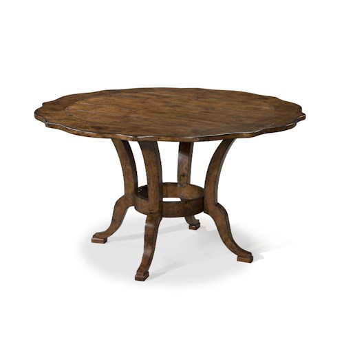 Dining Room Table Easton Collection Farmhouse 54 Inch Round Dining