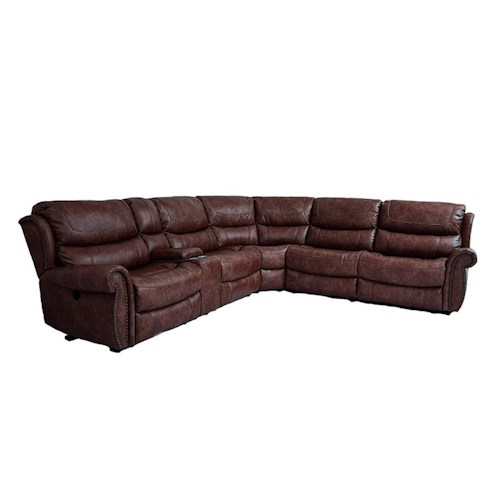 Cheers Sofa Uwx1012 Tobacco 6 Piece Power Reclining Sectional Great American Home Store