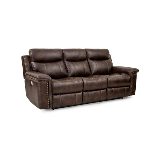 Cheers Sofa Phoenix Leather Power Reclining Sofa With