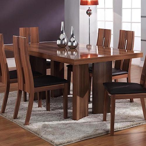 Chintaly imports irene rectangular dining table