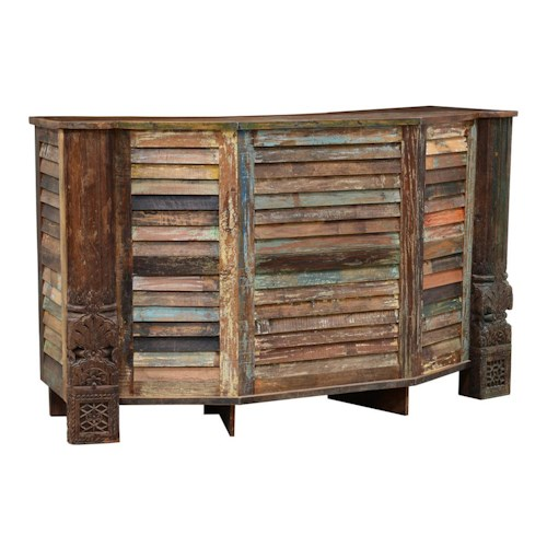 Classic Home Vintage Rustic Bar With Shutter Slats John V Schultz Furniture Bar Erie
