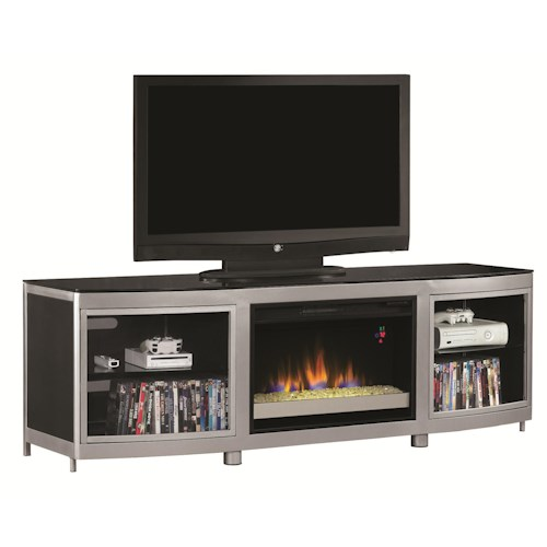 Classicflame Gotham 26 Media Fireplace Mantel J J Furniture Tv Or Computer Unit Mobile