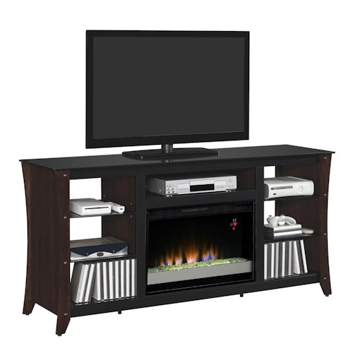 Classicflame Marlin Contemporary 66 Media Mantel With Electric Fireplace Insert J J