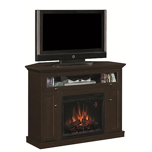 classicflame windsor dual entertain media fireplace mantel wayside furniture tv stands. Black Bedroom Furniture Sets. Home Design Ideas
