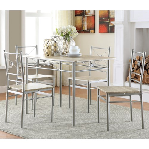 Dining Room Sets Phoenix: Coaster 100035 100035 5 Piece Dining Group
