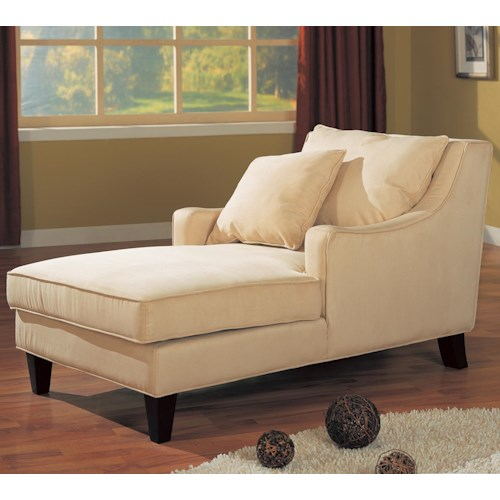 coaster accent seating microfiber chaise lounge dunk