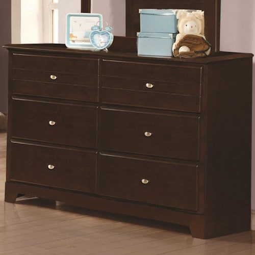 Coaster Ashton Collection Dresser With 6 Drawers Value City Furniture Dressers