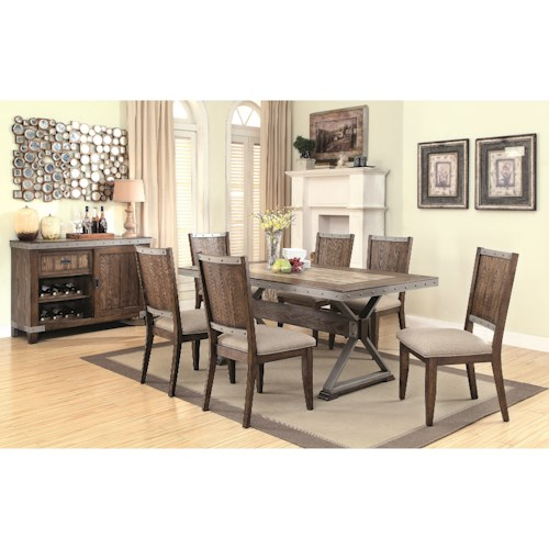 casual dining room group value city furniture casual dining room