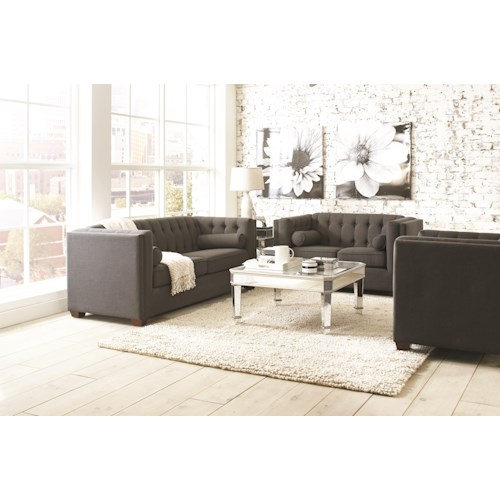 room furniture upholstery group coaster cairns stationary living room