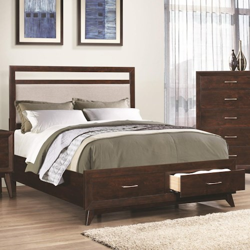 Coaster carrington california king storage bed with - California king storage bedroom sets ...