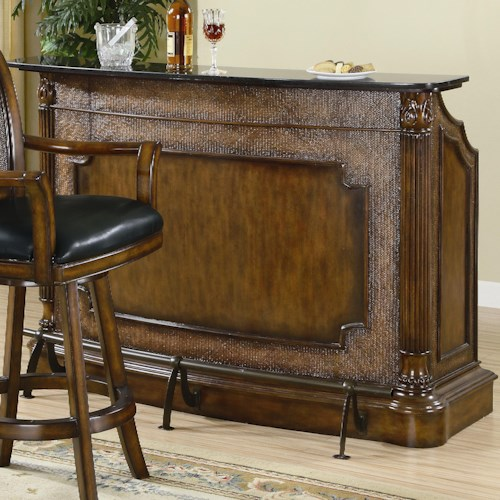 Coaster Clarendon Traditional Bar With Marble Top Value City Furniture Bar
