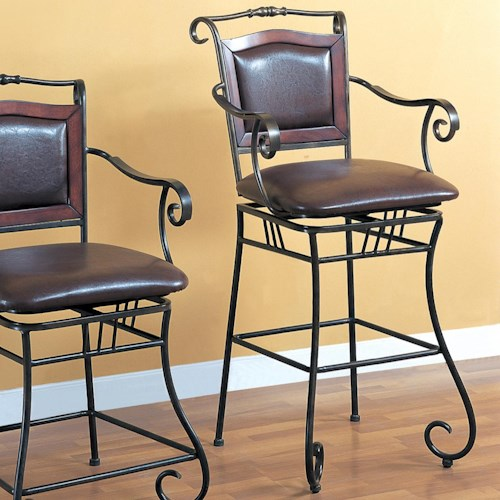 Coaster Dining Chairs And Bar Stools 29 Quot Metal Bar Stool