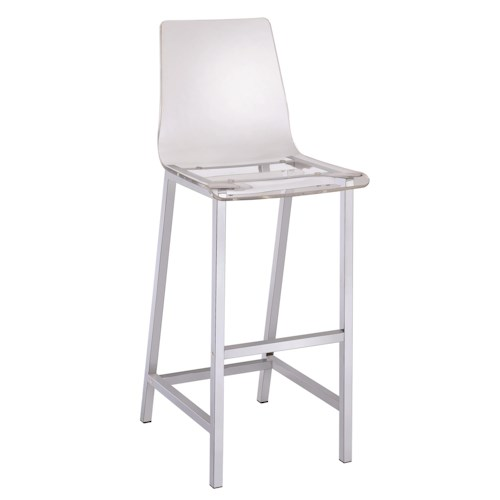 Coaster Dining Chairs And Bar Stools Acrylic Bar Height Stool With Chrome Bas