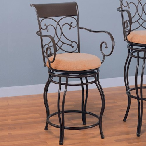 Coaster Dining Chairs And Bar Stools 24 Metal Bar Stool With Upholstered Seat Great American