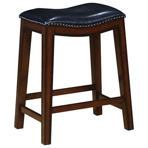 Coaster Dining Chairs And Bar Stools Backless Counter Height Stool With Nailhead Accents Value