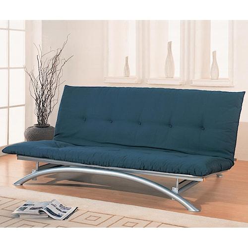 Coaster Futons Contemporary Metal Futon Frame And Mattress Set Value City Furniture Futons
