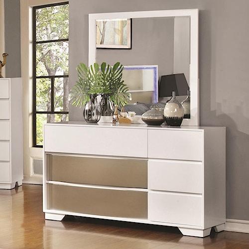 Home Bedroom Furniture Dresser Mirror Sets Coaster Havering Dresser