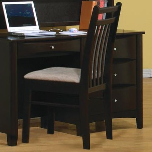Coaster Phoenix Youth Desk Chair With Fabric Seat Value