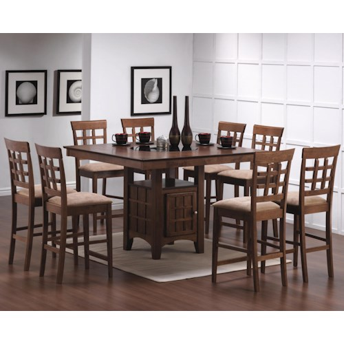home dining room furniture pub table and stool set coaster mix match