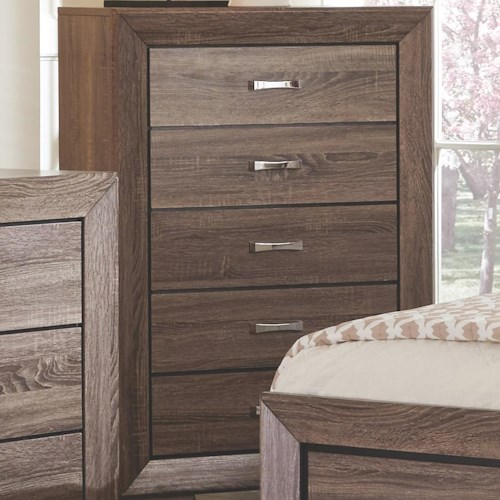 Coaster Kauffman Chest With 5 Drawers Value City