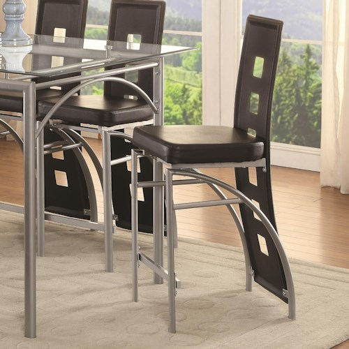 Coaster Los Feliz Black Contemporary Counter Height Stool Value City Furniture Bar Stools
