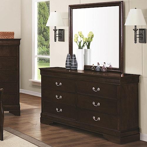 Dresser Square Mirror Charleston Furniture Dresser Mirror