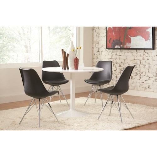 Coaster Lowry Contemporary Table And Chair Set Beck 39 S Furniture Dining 5 Piece Sets