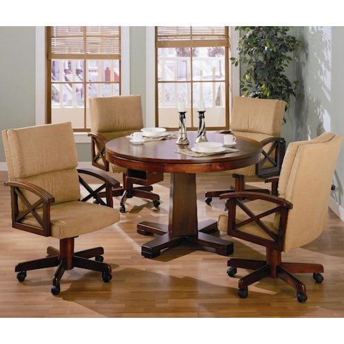 Coaster marietta 5 piece 3 in 1 game table set dunk for Dining room game table