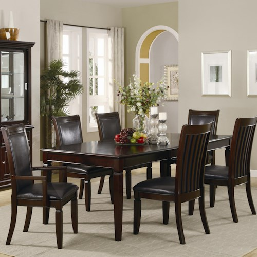 furniture dining 7 or more piece set coaster ramona dining table and