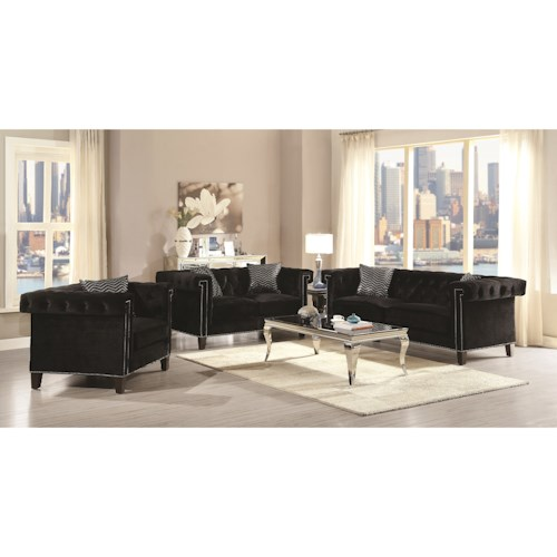 Coaster Reventlow Glamorous Living Room Group Dunk Bright Furniture
