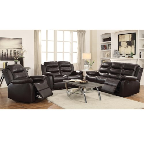 Coaster Rodman Reclining Living Room Group Beck 39 S Furniture Reclining