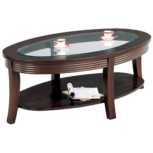 Coaster Simpson Coffee Table With Glass Top Value City Furniture Cocktail Or Coffee Table