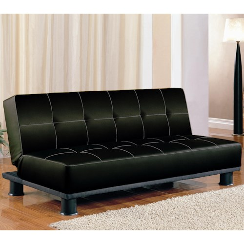 coaster sofa beds and futons contemporary armless