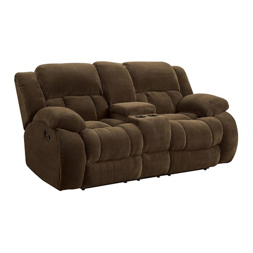Coaster Weissman Casual Pillow Padded Reclining Loveseat With Cupholders And Storage Dunk