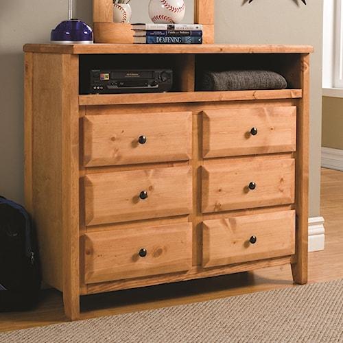 Coaster Wrangle Hill 6 Drawer Media Dresser Value City Furniture Dressers