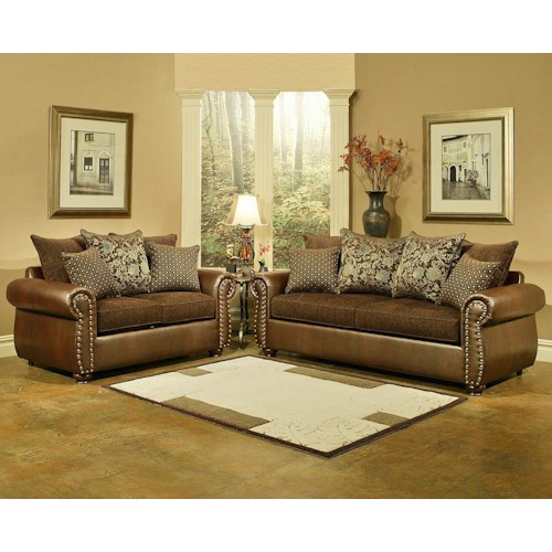 W austin texas 2 pc overstuffed brown living room set for for W living room austin