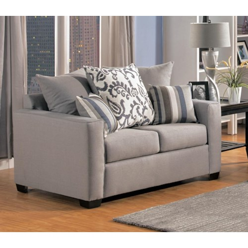 Comfort Industries Mist Grey Mistgrey Loveseat Mist Grey Love Seat Del Sol Furniture Love