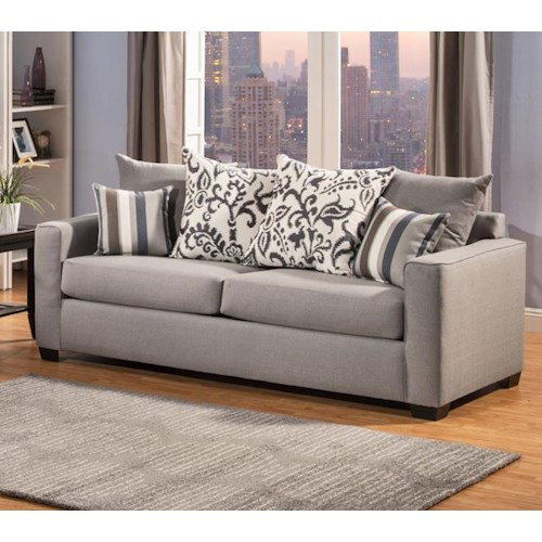 Comfort Industries Mist Grey Mistgrey Sofa Mist Grey Sofa Del Sol Furniture Sofa Phoenix
