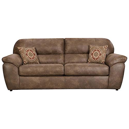 Corinthian Ulyses River Rock Casual Plush Sofa Standard